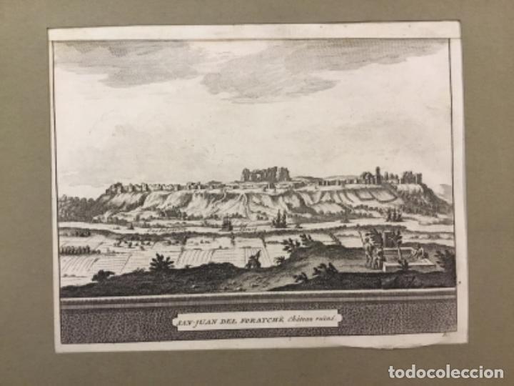 SAN JUAN DEL FORATCHE. CHATEAU RUINE. SEVILLA. VISTA. GRABADO ORIGINAL. 13 X 18 CM. (Arte - Grabados - Antiguos hasta el siglo XVIII)