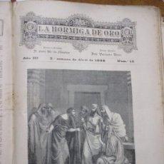 Arte: POR TREINTA DINEROS, FOTOGRABADO, 1886 LA HORMIGA DE ORO, JUDAS. Lote 221859057