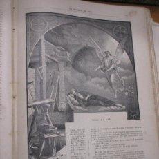 Arte: VIISIÓN DE SAN JOSÉ, FOTOGRABADO DE THOMAS, 1886 LA HORMIGA DE ORO, JUDAS. Lote 221859403