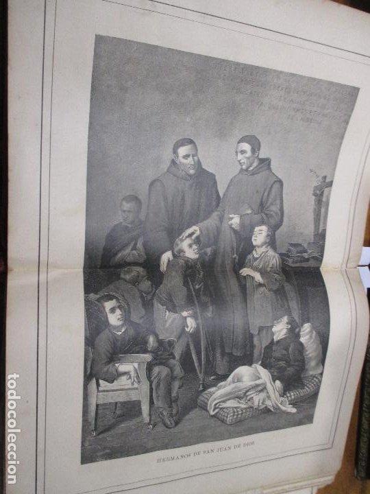 HERMANOS DE SAN JUAN DE DIOS, FOTOGRABADO DE THOMAS 1886 LA HORMIGA DE ORO (Arte - Grabados - Modernos siglo XIX)