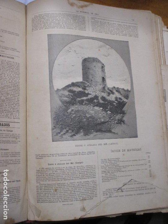 TORRE O ATALAYA DEL MIR, CANIGÓ, FOTOGRABADO DE P. ROSS 1886 LA HORMIGA DE ORO (Arte - Grabados - Modernos siglo XIX)