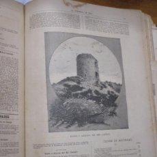 Arte: TORRE O ATALAYA DEL MIR, CANIGÓ, FOTOGRABADO DE P. ROSS 1886 LA HORMIGA DE ORO. Lote 221860311