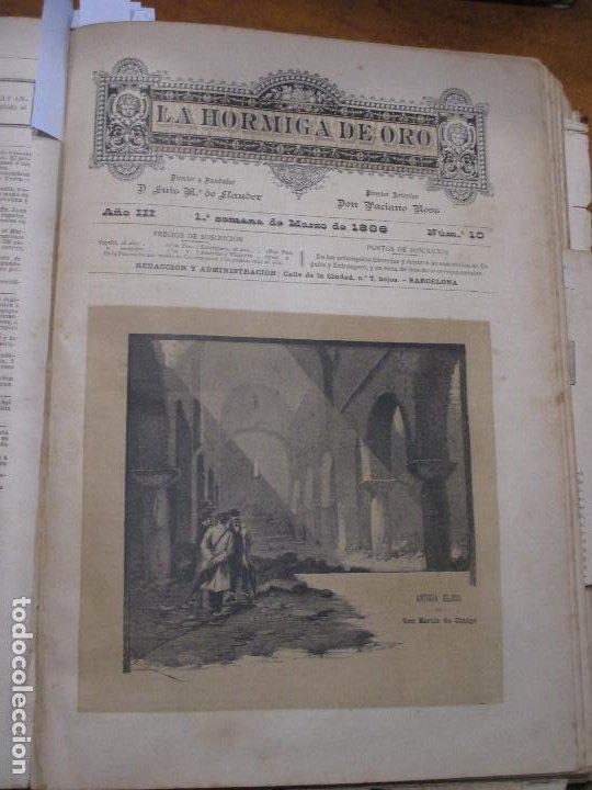 ANTIGUA IGLESIA DE SAN MARTÍN DE CANIGÓ, FOTOGRABADO DE P. ROSS, 1886 LA HORMIGA DE ORO (Arte - Grabados - Modernos siglo XIX)
