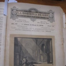 Arte: ANTIGUA IGLESIA DE SAN MARTÍN DE CANIGÓ, FOTOGRABADO DE P. ROSS, 1886 LA HORMIGA DE ORO. Lote 221860576