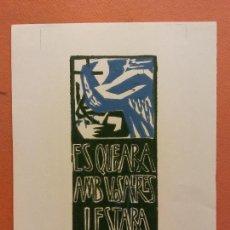 Arte: ORIGINAL. GRABADO. OBRA DE FRANCESC GASSÓ. ARTE RELIGIOSO. Lote 221861021