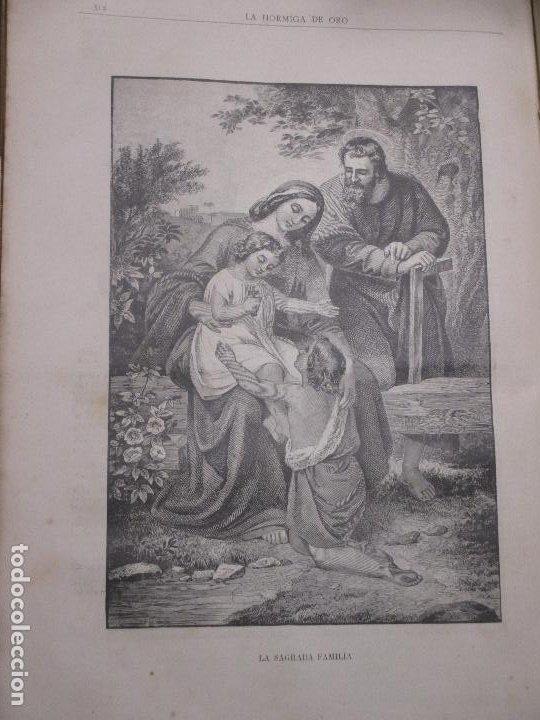LA SAGRADA FAMILIA, FOTOGRABADO DE 1886 LA HORMIGA DE ORO (Arte - Grabados - Modernos siglo XIX)