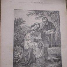 Arte: LA SAGRADA FAMILIA, FOTOGRABADO DE 1886 LA HORMIGA DE ORO. Lote 221861230