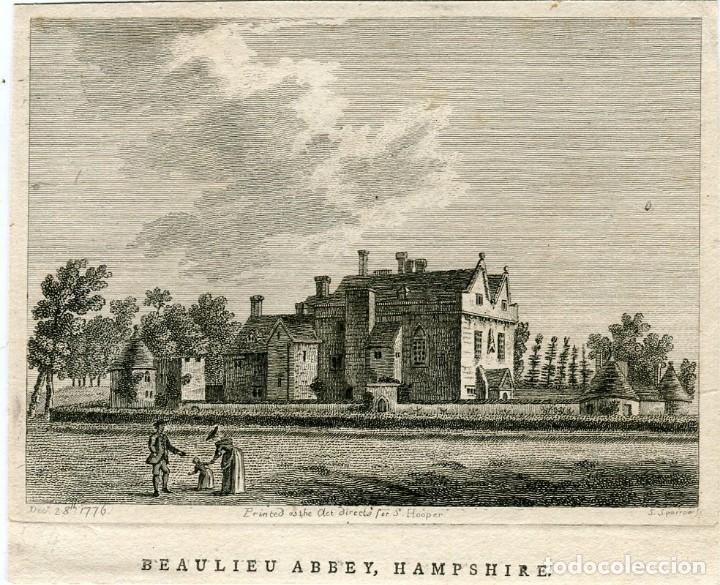 BEAULIEU ABBEY, HAMPSHIRE GRABADO POR S. SPARROW. PUBLICADO EN 1776 (Arte - Grabados - Antiguos hasta el siglo XVIII)