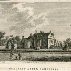 Arte: BEAULIEU ABBEY, HAMPSHIRE GRABADO POR S. SPARROW. PUBLICADO EN 1776. Lote 221916825