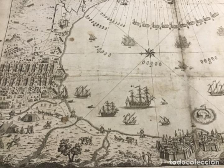 Arte: PLANO DE LA BAHIA Y PLAZA DE GIBRALTAR CON EL SITIO PUESTO POR SU MAGESTAD CATHOLICA. 1782. - Foto 4 - 221918646