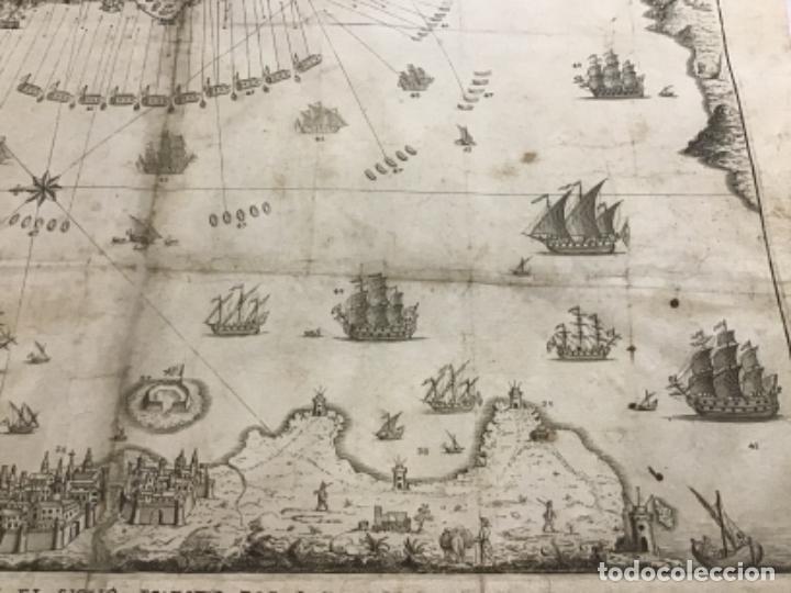 Arte: PLANO DE LA BAHIA Y PLAZA DE GIBRALTAR CON EL SITIO PUESTO POR SU MAGESTAD CATHOLICA. 1782. - Foto 5 - 221918646
