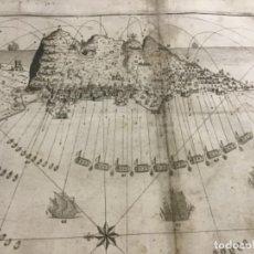 Arte: PLANO DE LA BAHIA Y PLAZA DE GIBRALTAR CON EL SITIO PUESTO POR SU MAGESTAD CATHOLICA. 1782.. Lote 221918646