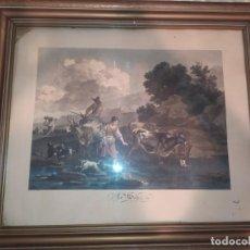 Arte: LOTE GRABADOS AGUAFUERTE COLOREADOS LA NUIT LE BAS SEULP BERGHEM LE SOIR WEISBROD DEQUEVAUVILLER. Lote 221977111