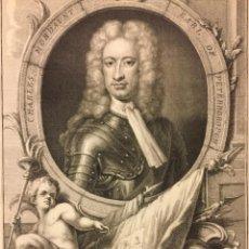 Arte: CHARLES MORDAUNT. EARL OF PETERBOROUGH. G. KNELLER PINX. J. HOUBREKEN SCULPSIT. (39 X 26,3 CM). Lote 221995057