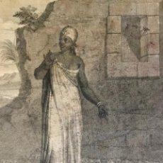 Arte: FEMME MORESQUE. GRABADO SOBRE PAPEL. P. ROCHEFORT SCULP. (GRABADO 33 X 22,9 CM). Lote 222011822