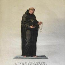 Arte: AUTRE CROISIER, OU RELIGIEUX PORTE-CROIX. ARMES DE L'ORDER DES CROISIERS D'ITALIE. (44,1 X 27,2 CM). Lote 222013027