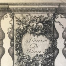 Arte: GRABADO ORIGINAL. LUIRES DE FLEURS. DECORATIVO CON MOTIVOS FLORALES. CHEZ POITTY. VAUQUER.. Lote 222018921