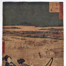 Arte: MAGISTRAL GRABADO JAPONÉS DEL MAESTRO HIROSHIGE I, CIRCA 1825, GRAN CALIDAD RARO, RETRATO GEISHAS. Lote 222019496