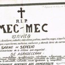 """Arte: 1977 CARTEL 1ª EXPOSICIÓN DE """"OCAÑA"""" EN LA GALERÍA MEC-MEC DE BARCELONA + PUBLICIDAD PELÍCULA. Lote 222036542"""