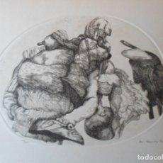 Arte: MANUEL ALCORLO (MADRID, 1935) GRABADO 1974 21X34 PAPEL 50X38 FIRMADA LÁPIZ Y 150/231. PERFECTA!. Lote 222166311