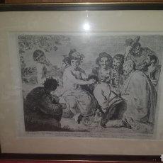 Arte: GRABADO LOS BORRACHOS DE VELAZQUEZ. Lote 222183416