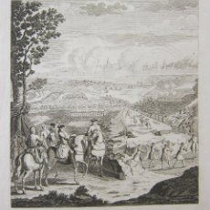 Arte: THE SIEGE OF BARCELONA TAKEN BY THE EARL OF PETERBOROUGH IN THE YEAR 1705.. Lote 222237690