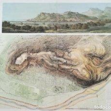 Arte: GRABADO Y PLANO DE SAGUNTO - GUERRA DE LA INDEPENDENCIA - 1811 - SUCHET. Lote 222248660