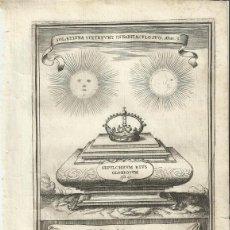 Arte: GRABADO DE LAS HONRAS QUE SE HICIERON A SU CATÓLICA MAJESTAD DE FELIPE IV MADRID AÑO 1666 S. XVII. Lote 222257061