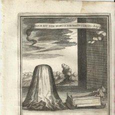 Arte: GRABADO DE LAS HONRAS QUE SE HICIERON A SU CATÓLICA MAJESTAD DE FELIPE IV MADRID AÑO 1666 S. XVII. Lote 222257176