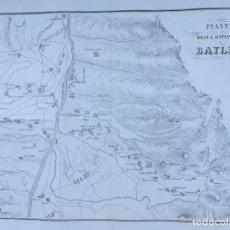 Arte: BATALLA DE BAYLEN - JAEN ANDUJAR LINARES - GUERRA DE LA INDEPENDENCIA - AÑO 1808 - GRAN FORMATO. Lote 222305565