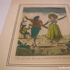 Arte: MARCOS TÉLLEZ VILLAR. UN PASAR DE LAS SIGUIDILLAS BOLERAS. 1790. Lote 222325858