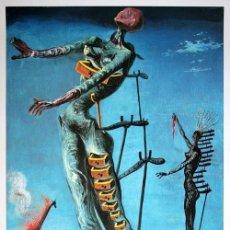 Arte: IMPRESIONANTE GRABADO DE DALI,JIRAFA EN LLAMAS,FIRMADO Y NUMERADO,50 X 65 CM. Lote 222345217