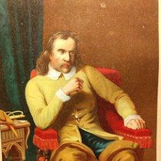 Arte: OLIVERIO CROMWELL. CROMOLITOGRAFÍA 1877. SERIE HOMBRES CÉLEBRES. LITOGRAFÍA ANDALUCES. ASALTO 24.. Lote 222399028