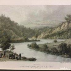 Arte: GUIPUSCOA. IRUN. 1824. DRAWN ON STONE BY W. WESTALL. E.H. LOCKER. FRS. GRABADO ORIGINAL. COLOREADO. Lote 222433950