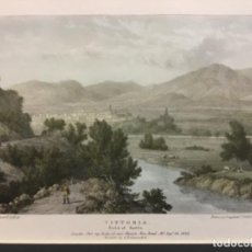 Arte: ALAVA VITTORIA. FIELD OF BATTLE. DRAWN ON STONE BY W. WESTALL. E.H. LOCKER. FRS. ORIGINAL. COLOREADO. Lote 222438386