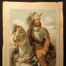 Arte: VIRIATO. CROMOLITOGRAFÍA 1877. SERIE HOMBRES CÉLEBRES. LITOGRAFÍA ANDALUCES. ASALTO 24.. Lote 222447862