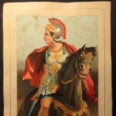 Arte: ALEJANDRO MAGNO. CROMOLITOGRAFÍA 1877. SERIE HOMBRES CÉLEBRES. LITOGRAFÍA ANDALUCES. ASALTO 24.. Lote 222447882