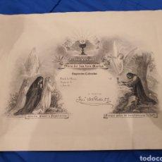 Arte: GRABADO B. MAURA - OBRA DE LAS TRES MARIAS - SAGRARIOS CALVARIOS - FIRMADO POR JOSÉ MARIA RUBIO S.J.. Lote 222480608