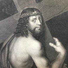 Arte: LE CHRIST PORTANT LA CROIX. LES GALERIES DE BERLIN. A. SOLARIO PINXT. A. H. PAYNE SC. 29,5 X 22,8 CM. Lote 222551753