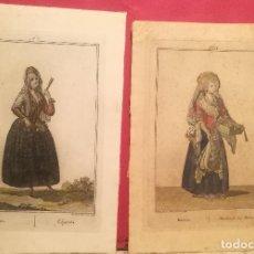 Arte: MAJA Y MODISTA POR JUAN DE LA CRUZ CANO Y OLMEDILLA (1734-90). Lote 222578811