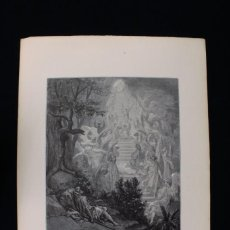 "Arte: GRABADO J. QUARILEY, DEL ""SUEÑO DE JACOB"" DE GUSTAVE DORÉ. ENGRAVING ""JACOB'S DREAM"". Lote 222587923"