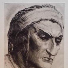 Arte: RUDOLF SAUDEK: DANTE. AGUAFUERTE FIRMADO A LÁPIZ, 1926. Lote 222598081