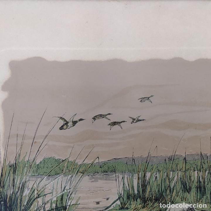 Arte: PAREJA DE GRABADOS DE CAZA. A COLOR. FIRMADOS F.(FERDINAND?) MAISSEN. ALEMANIA. XIX-XX - Foto 4 - 222658375