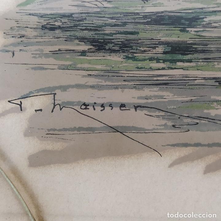 Arte: PAREJA DE GRABADOS DE CAZA. A COLOR. FIRMADOS F.(FERDINAND?) MAISSEN. ALEMANIA. XIX-XX - Foto 7 - 222658375