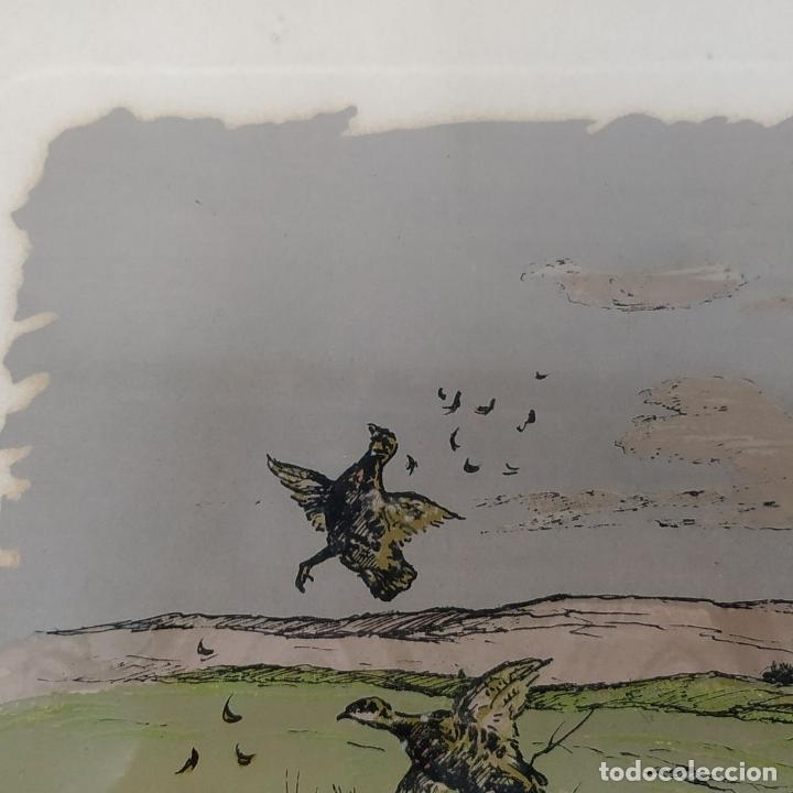 Arte: PAREJA DE GRABADOS DE CAZA. A COLOR. FIRMADOS F.(FERDINAND?) MAISSEN. ALEMANIA. XIX-XX - Foto 11 - 222658375