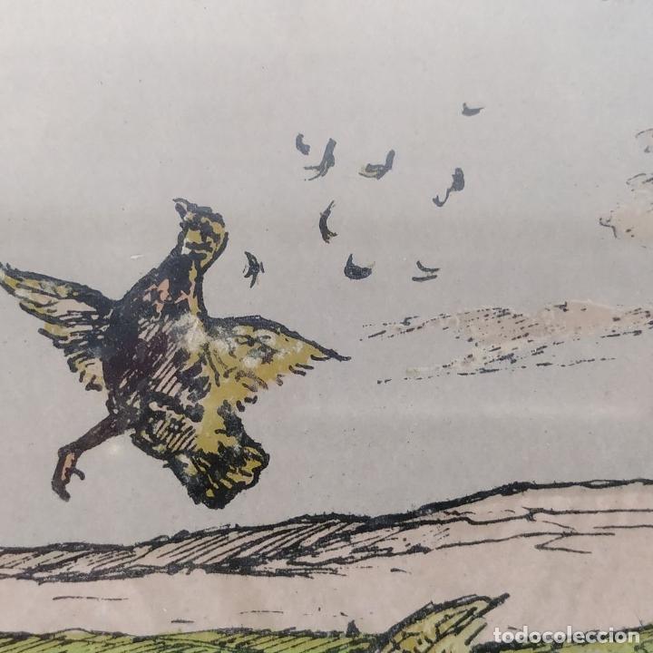 Arte: PAREJA DE GRABADOS DE CAZA. A COLOR. FIRMADOS F.(FERDINAND?) MAISSEN. ALEMANIA. XIX-XX - Foto 13 - 222658375