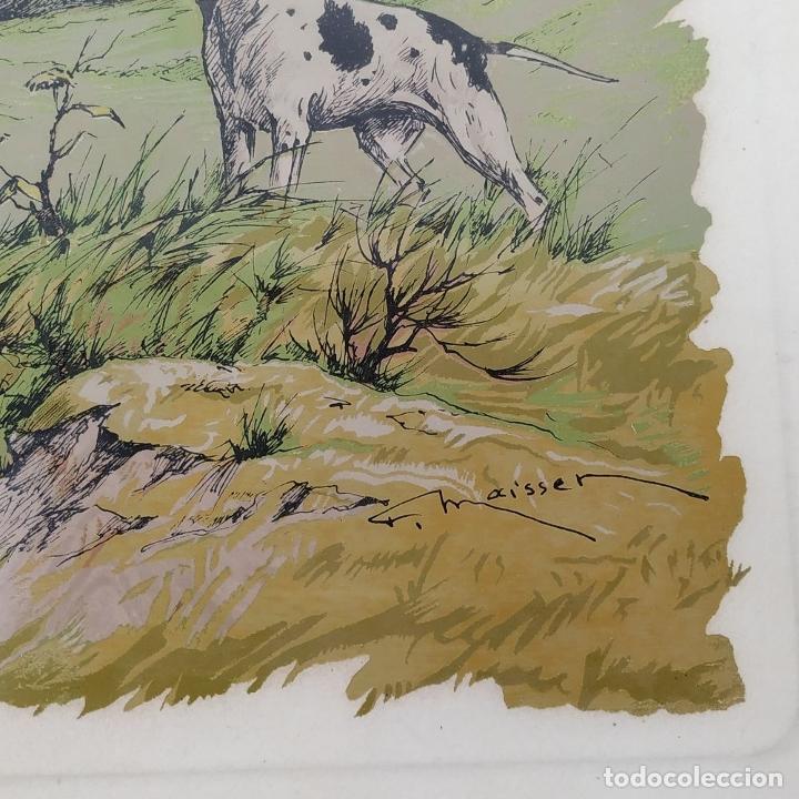 Arte: PAREJA DE GRABADOS DE CAZA. A COLOR. FIRMADOS F.(FERDINAND?) MAISSEN. ALEMANIA. XIX-XX - Foto 14 - 222658375
