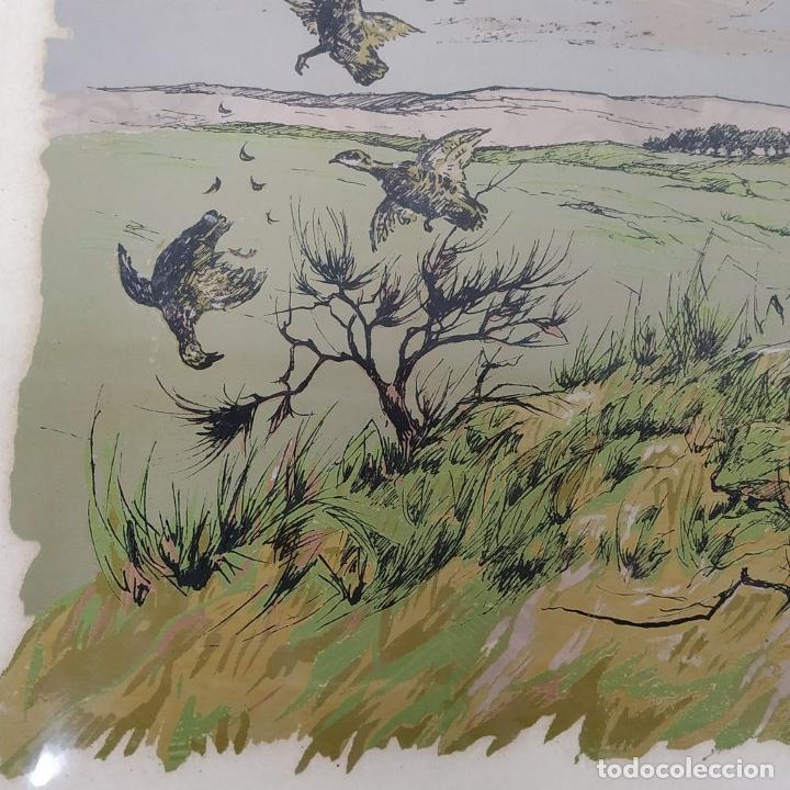 Arte: PAREJA DE GRABADOS DE CAZA. A COLOR. FIRMADOS F.(FERDINAND?) MAISSEN. ALEMANIA. XIX-XX - Foto 15 - 222658375