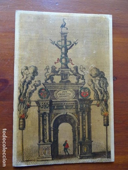 REPRODUCCIÓN ENTRADA AMBERES ARCHIDUQUE ERNESTO, DESCRIPTIO PUBLICAE GRATULATIONIS SPECTACULORUM (Arte - Grabados - Contemporáneos siglo XX)
