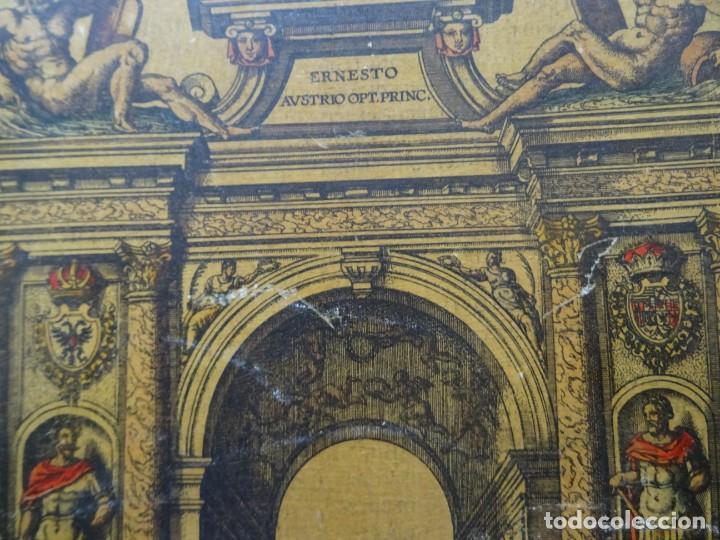 Arte: Reproducción entrada Amberes archiduque Ernesto, Descriptio Publicae Gratulationis Spectaculorum - Foto 2 - 222694435